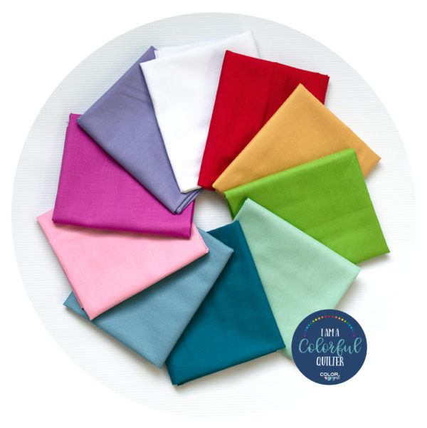 Tilda Fabrics coordinating solid color fabric sold by Color Girl Quilts