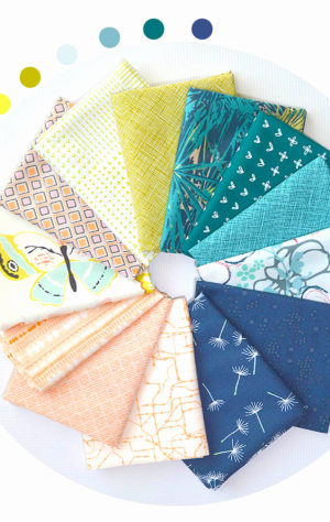 Sew Colorful Beach colors fabric bundle for quilting, by Color Girl quilts