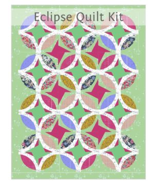 Eclipse quilt pattern kit by Color Girl Quilts with Classic Curves Ruler