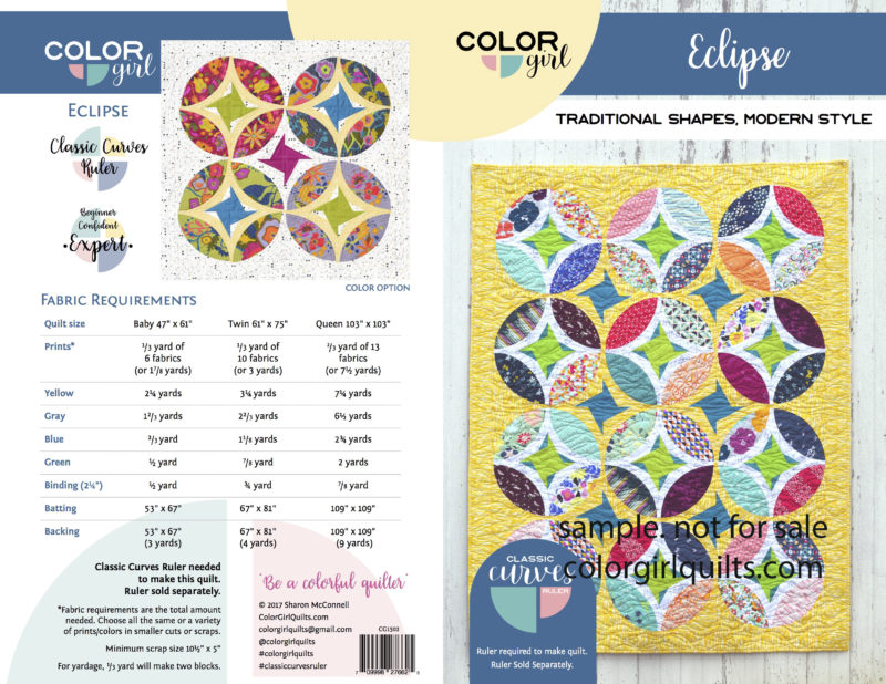 Eclipse quilt pattern by colorgirlquilts.com