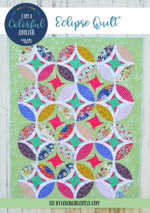 Eclipse quilt pattern kit by Color girl Quilts