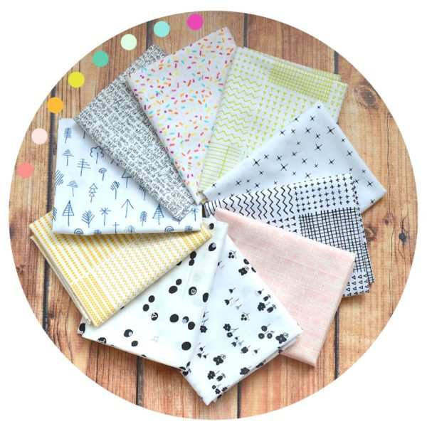 Low Volume fabric bundle for quilting by Color Girl Quilts