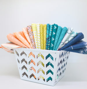 Sew Colorful Beachy fat quarter bundle by Color Girl Quilts. Custom curated fabrics for quilting
