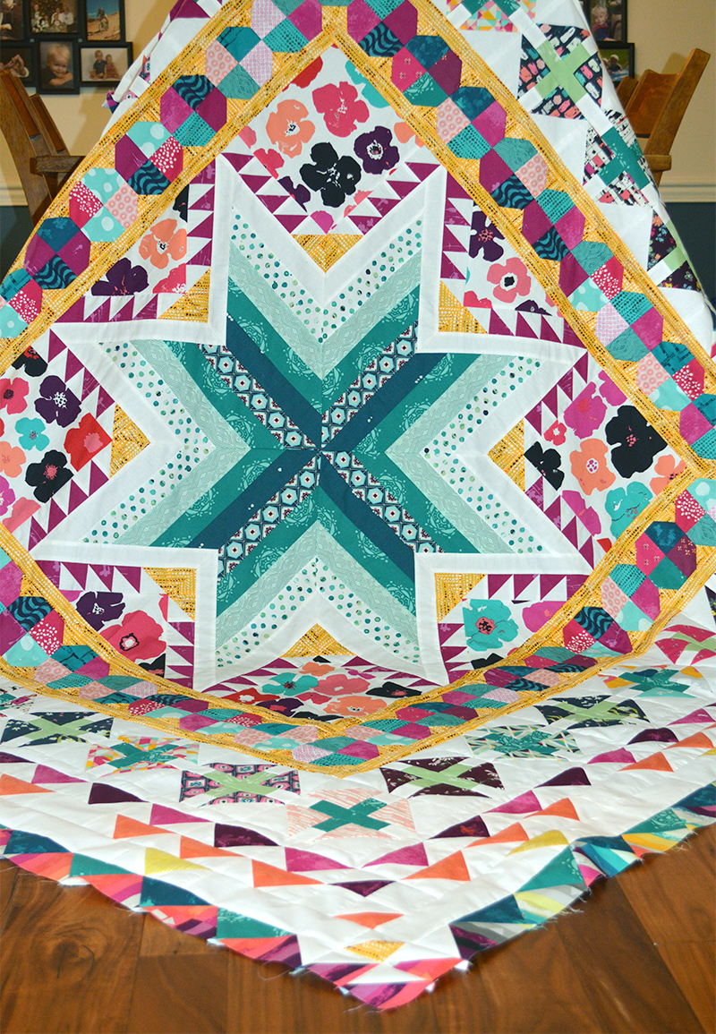 Pixie Medallion finished quilt top, pattern by Sharon McConnell, Colorgirlquilts.com