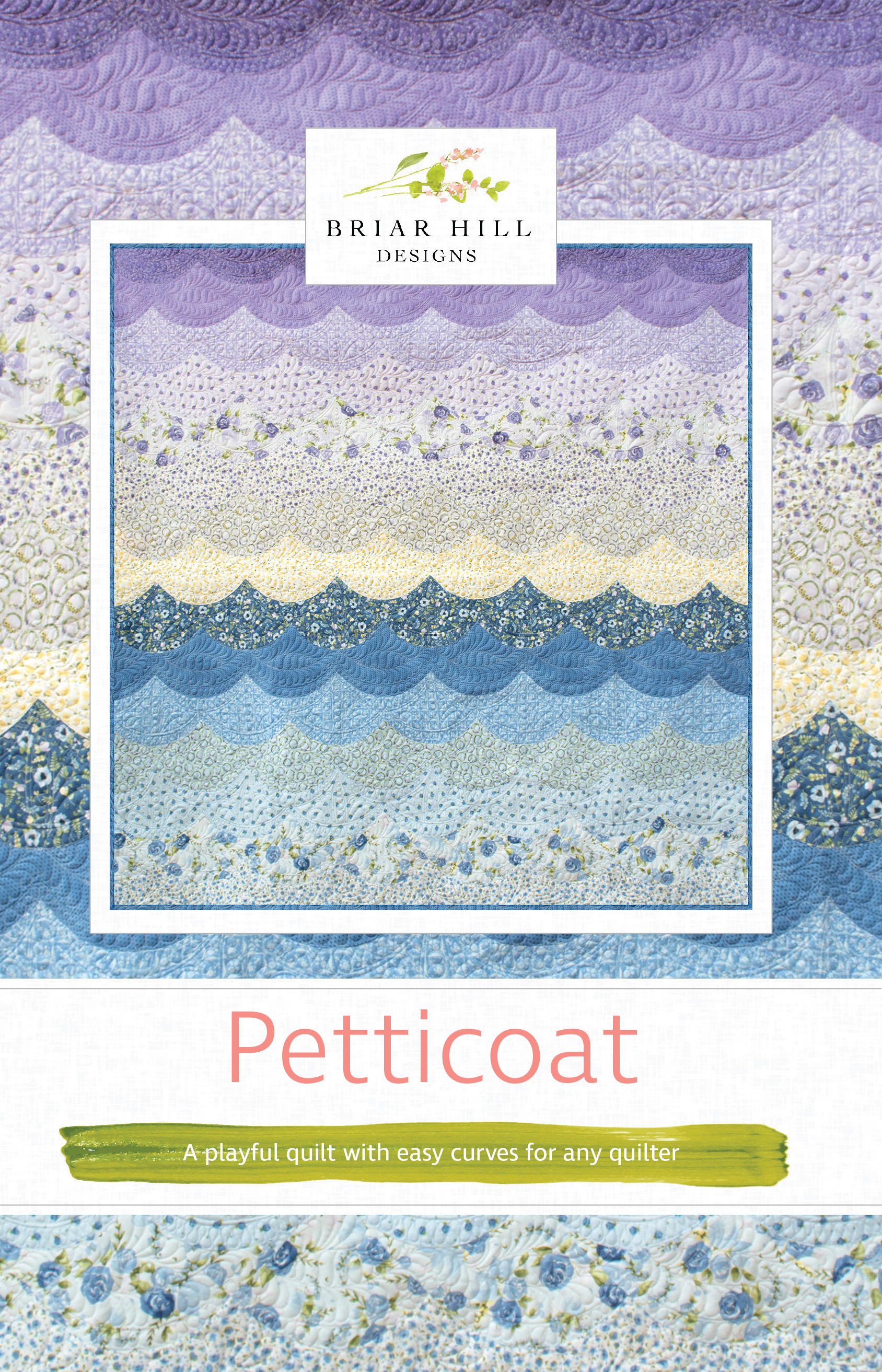 petticoat quilt by Briar Hill designs using the Classic curves ruler