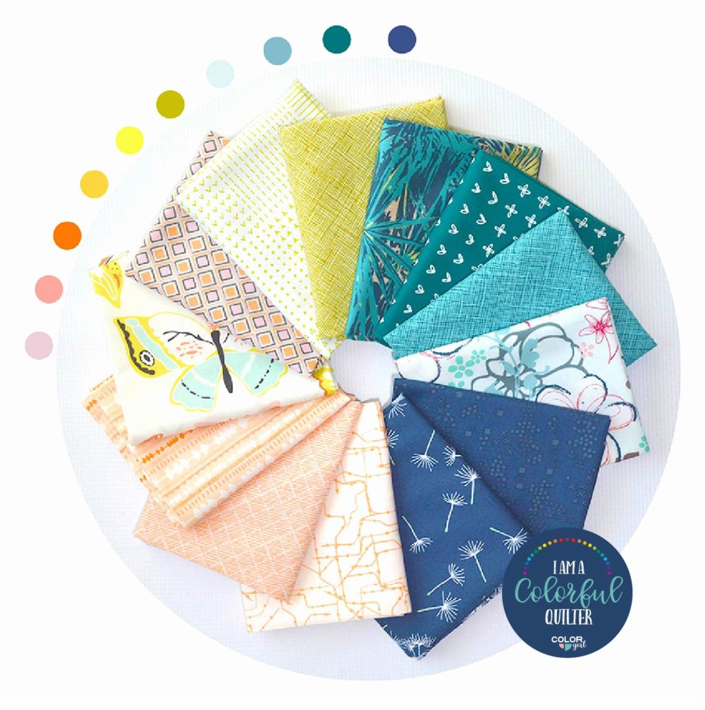 Beachy colors quilters fabric bundle sold by color girl quilts