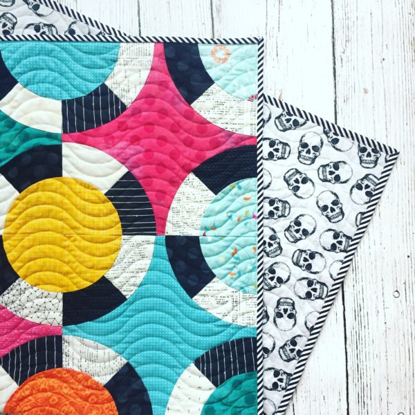 BlackJack quilt pattern by Color Girl. Modern, easy curved piecing quilt for the Classic Curves Ruler