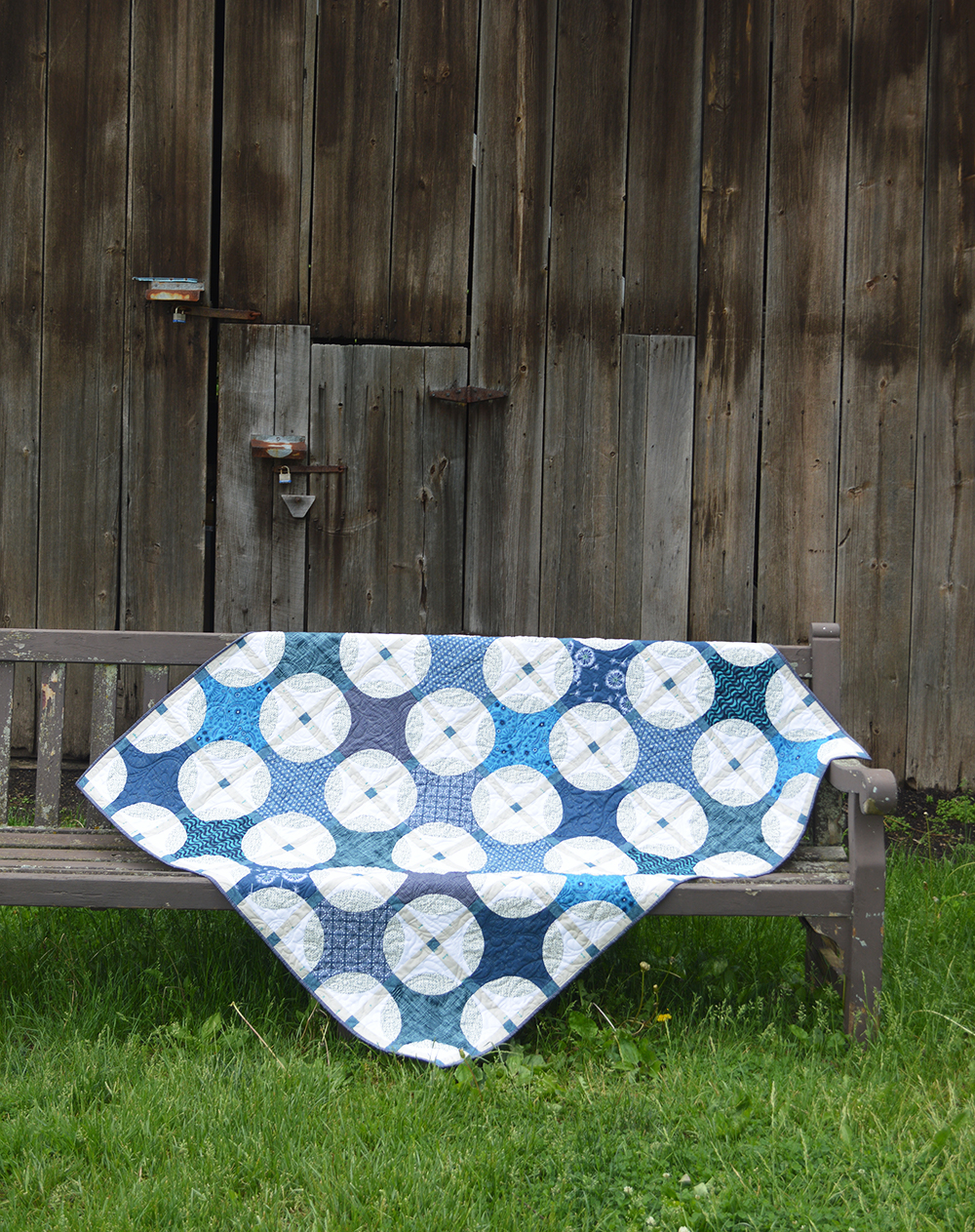 Indigo quilt pattern and kit by Color Girl quilts
