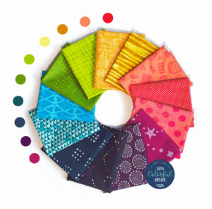 Rainbow fat quarter bundle sold by Color Girl Quilts