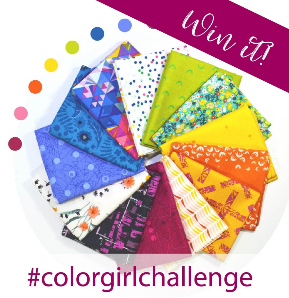 Color Girl Quilts challenge project for quilters
