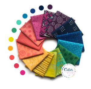 rainbow prints fat quarter bundle sold by Color Girl Quilts