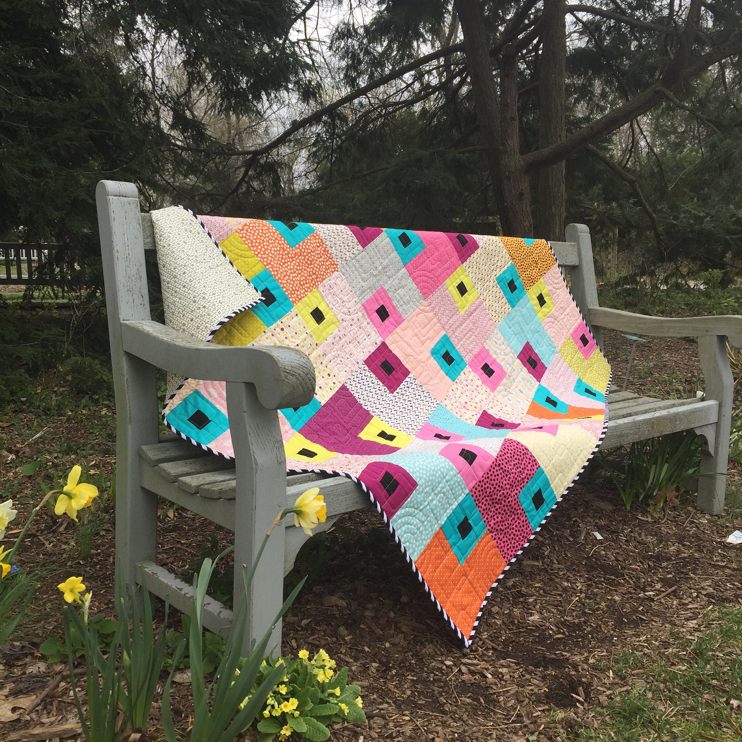 Jewel quilt for sale, made by Sharon McConnell, Color Girl quilts