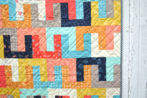 Links quilt, for sale by Color Girl quilts