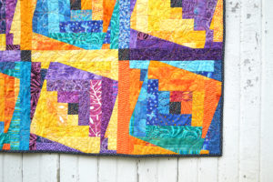 Barn Raising, handmade quilt for sale by Color Girl Quilts