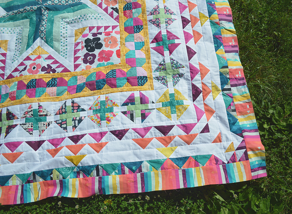 Pixie Medallion quilt pattern by Color Girl Quilts, with Art Gallery Fabrics