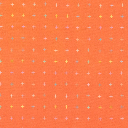Robert Kaufman fabrics, basic quilting prints in orange and color sold by Color girl Quilts