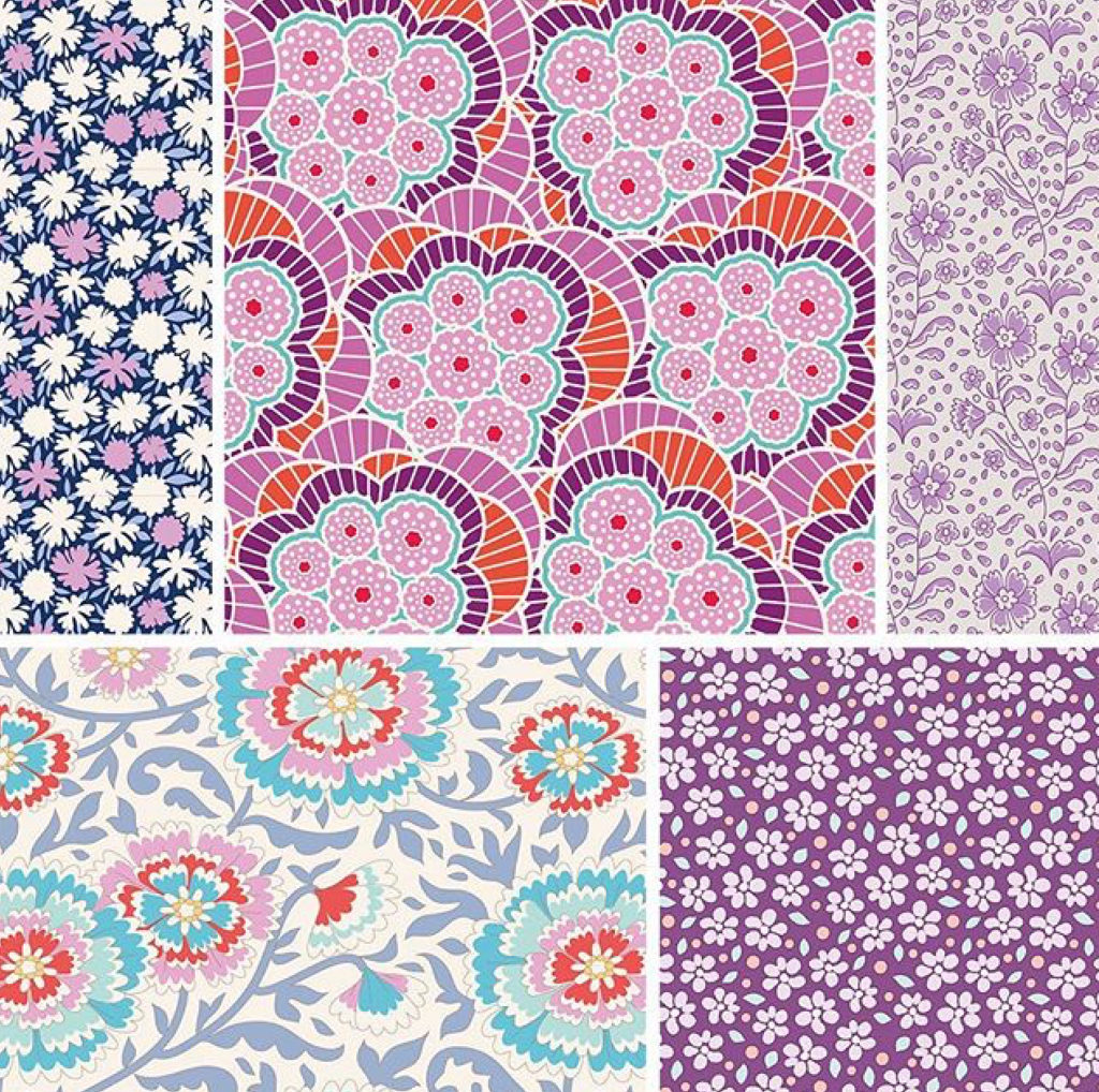 Tilda fabrics Bird Pond fabrics sold by Color Girl Quilts