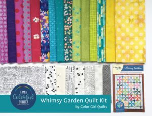 Whimsy Garden quilt kit by Color Girl Quilts
