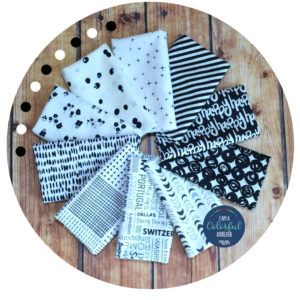 black and white fabric bundle for modern quilting, sold by Color Girl Quilts