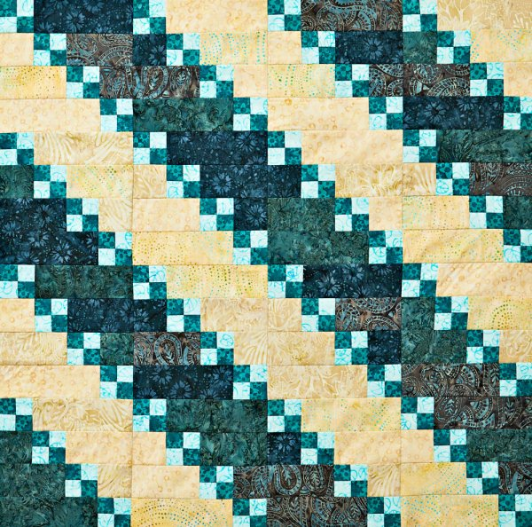 Shore Thing, free quilt pattern from All People Quilt, sewn by Color Girl Quilts