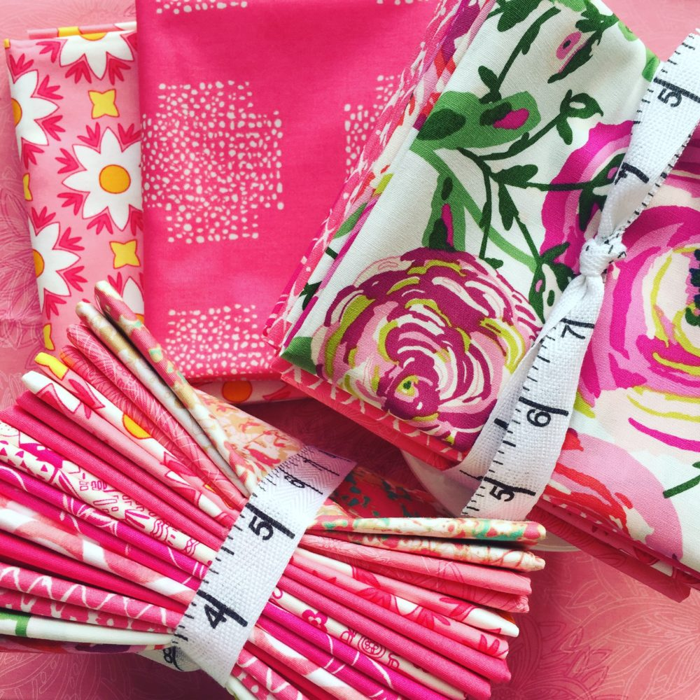 Color Master pink fabric bundles for quilters. Sold by Color Girl quilts