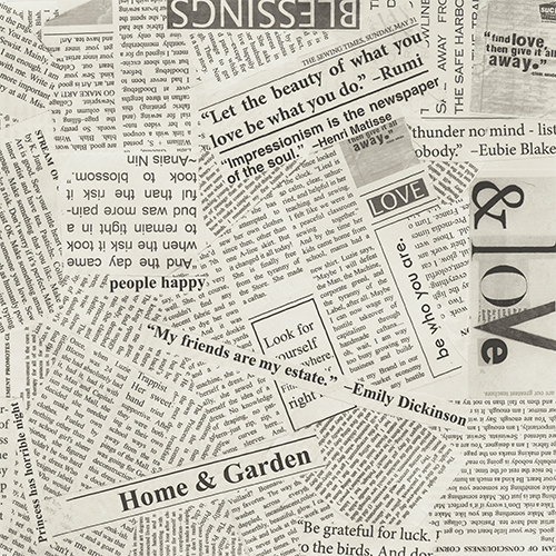 text print, newsprint fabric for quilters sold by Color Girl quilts