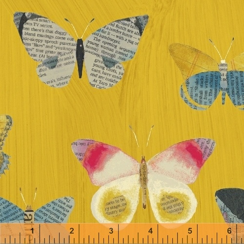 Wonder fabric by Carrie Bloomston, butterfly print fabric for sewing. sold by Color Girl quilts