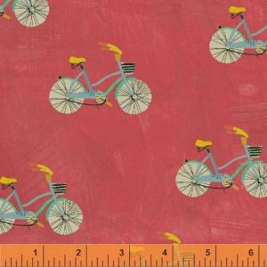 Wonder fabric by Carrie Bloomston, bicycle print fabric for sewing. sold by Color Girl quilts