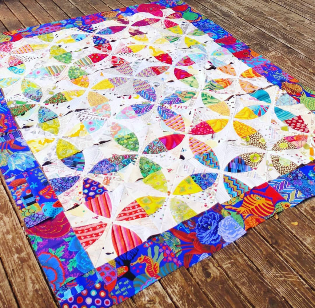 Whimsy Garden quilt. pattern sold by Color Girl Quilts