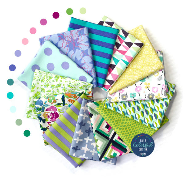 meadow fabric bundle for quilters sold by Color Girl quilts