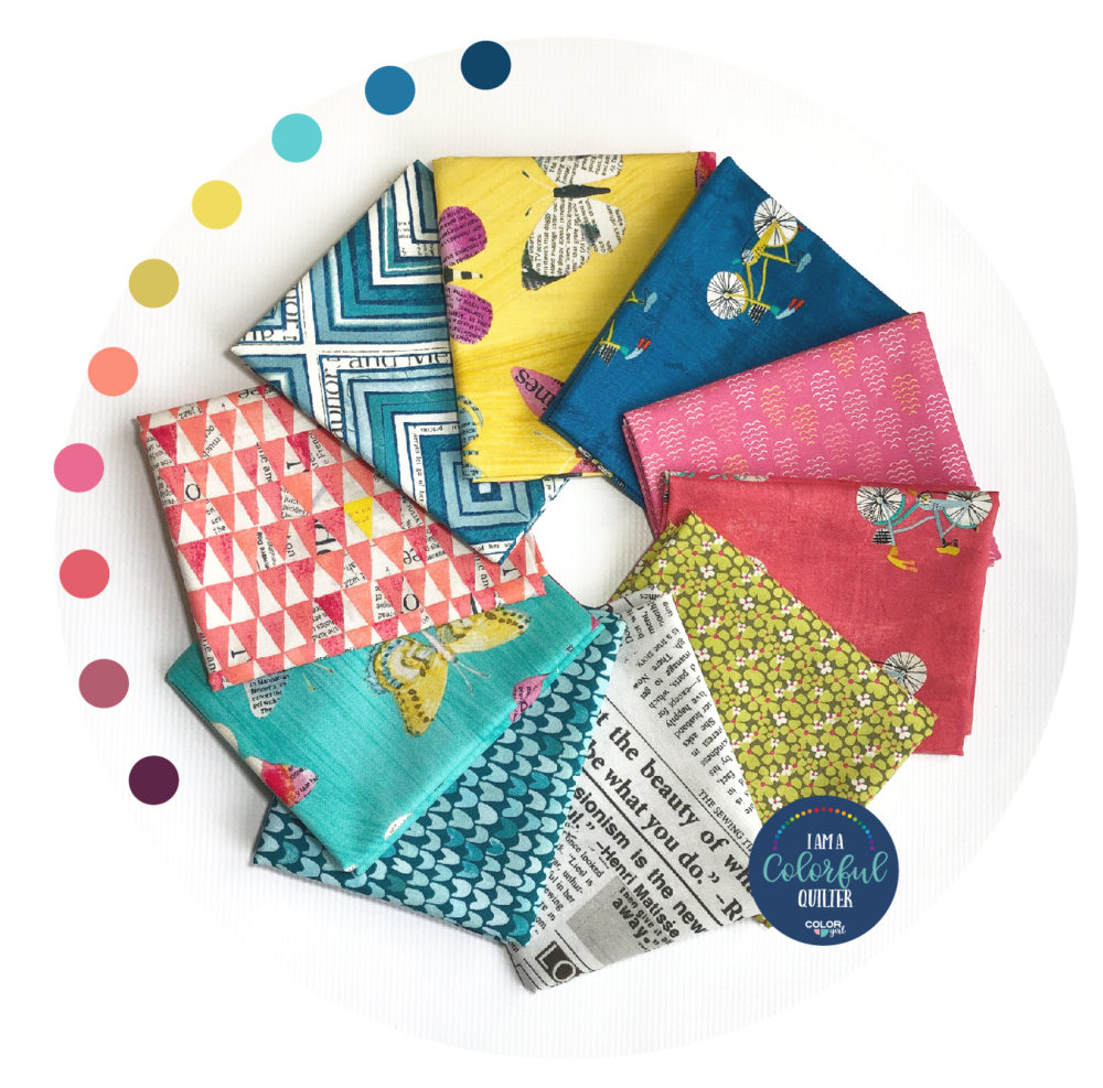 fat quarter bundle fabric by Carrie Bloomston. sold by Color Girl Quilts