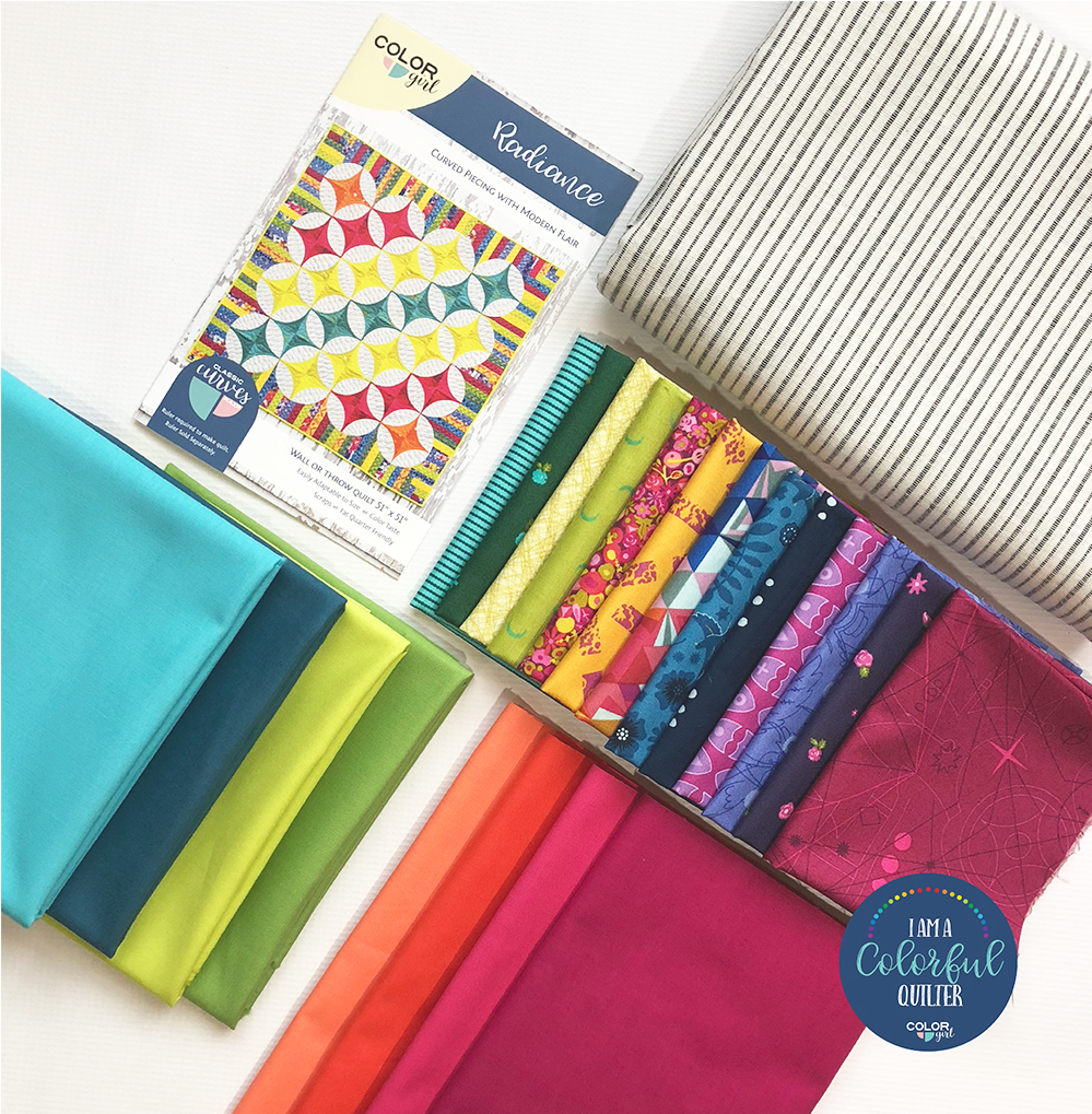 Radiance quilt kit featuring Alison Glass fabrics, sold by Color girl Quilts