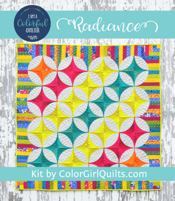 Radiance quilt kit by Color Girl quilts