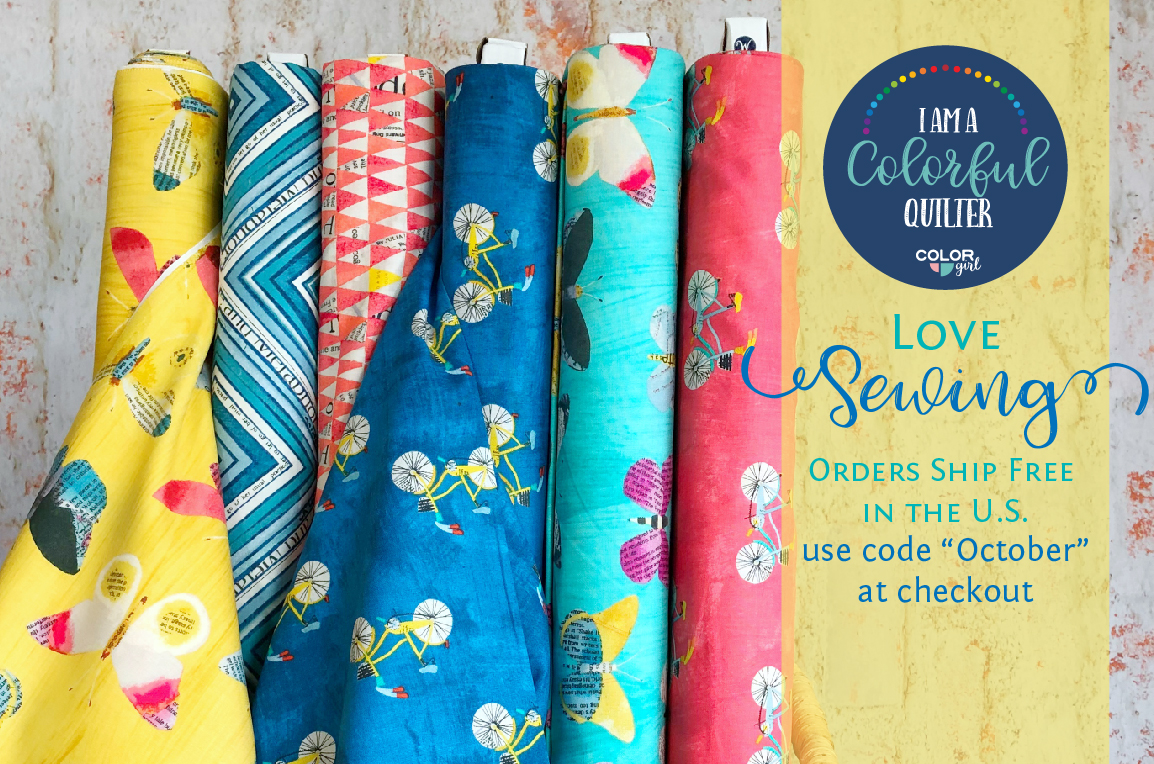 love sewing Color Girl Quilts