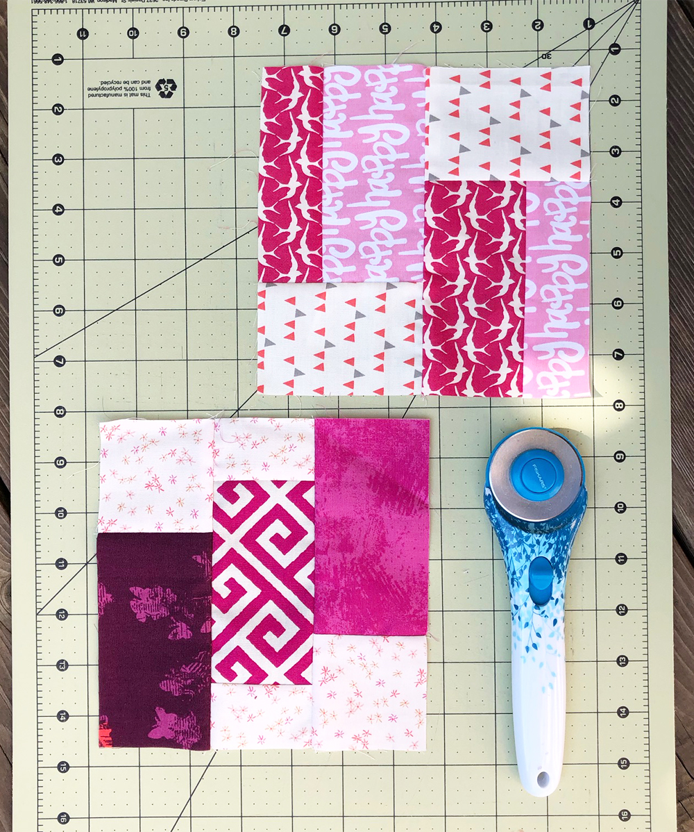 Super simple sampler quilt blocks by Color Girl quilts