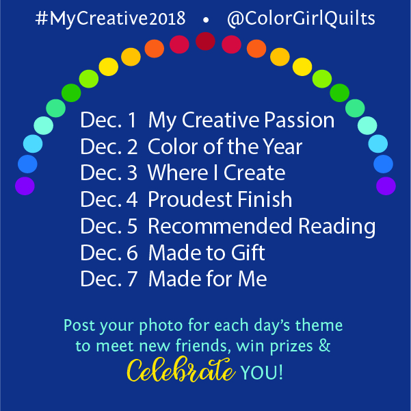 My Creative 2018 instagram event with Color girl Quilts