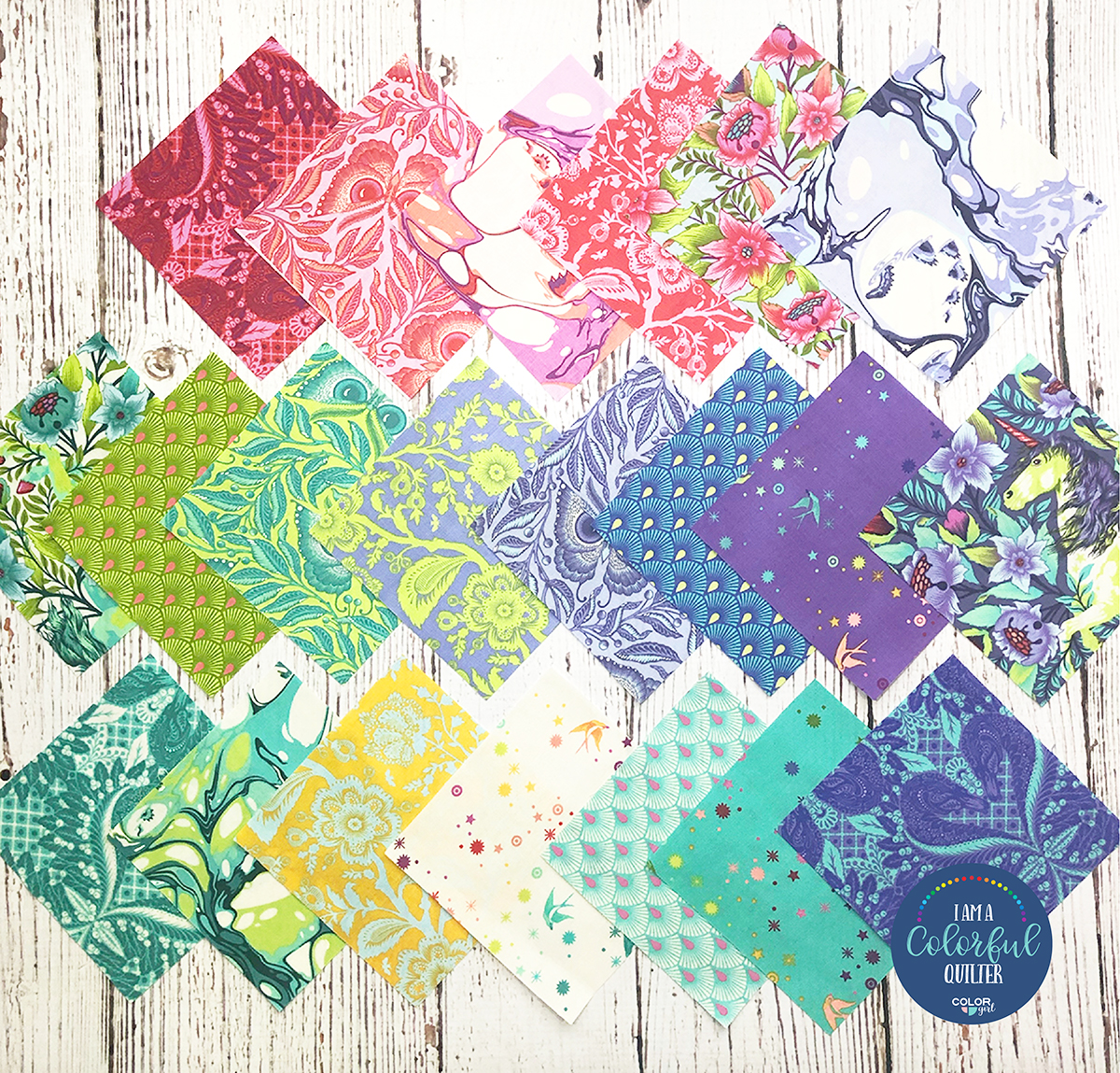 Pinkerville fabric by Tula Pink sold by Color Girl Quilts