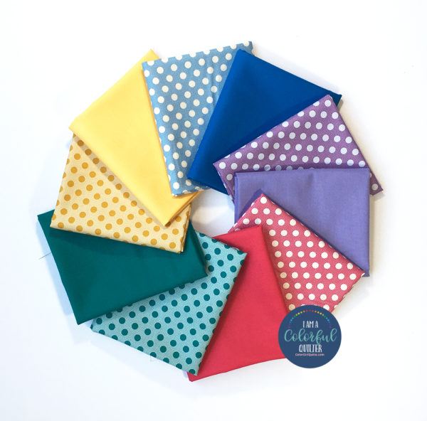 Tilda fabrics polka dots and solids fabric bundle sold by color girl quilts