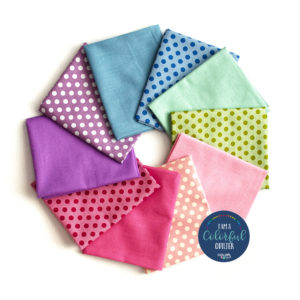 Tilda dots and solids fabrics sold by Color girl Quilts