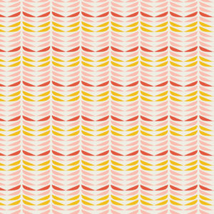 REtro petals coral pink fabric by Art Gallery Fabrics sold by Color Girl Quilts