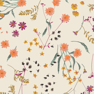 scattered bouquet floral print by Art Gallery fabrics sold by Color Girl Quilts