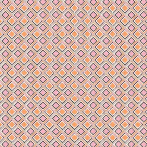 artsy check print in pink and orange by Art Gallery Fabrics sold by Color girl quilts