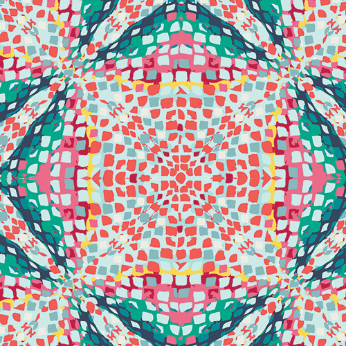 kaleidoscope print by Art Gallery Fabrics sold by Color girl Quilts