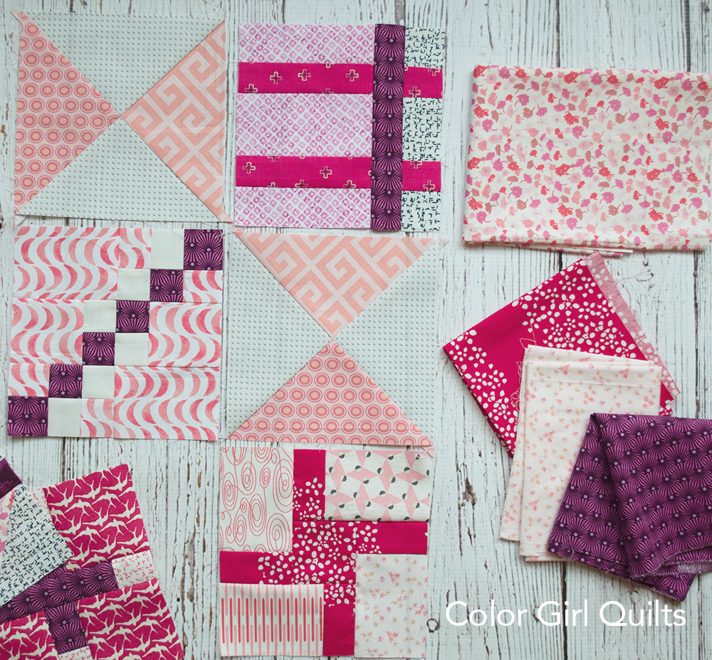 Super Simple Sampler, free quilt block tutorials by Color Girl Quilts