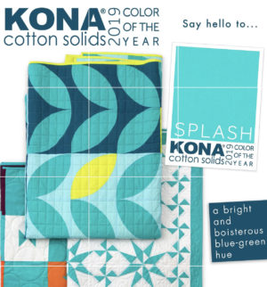 Kona color of the year splash sold by Color girl Quilts