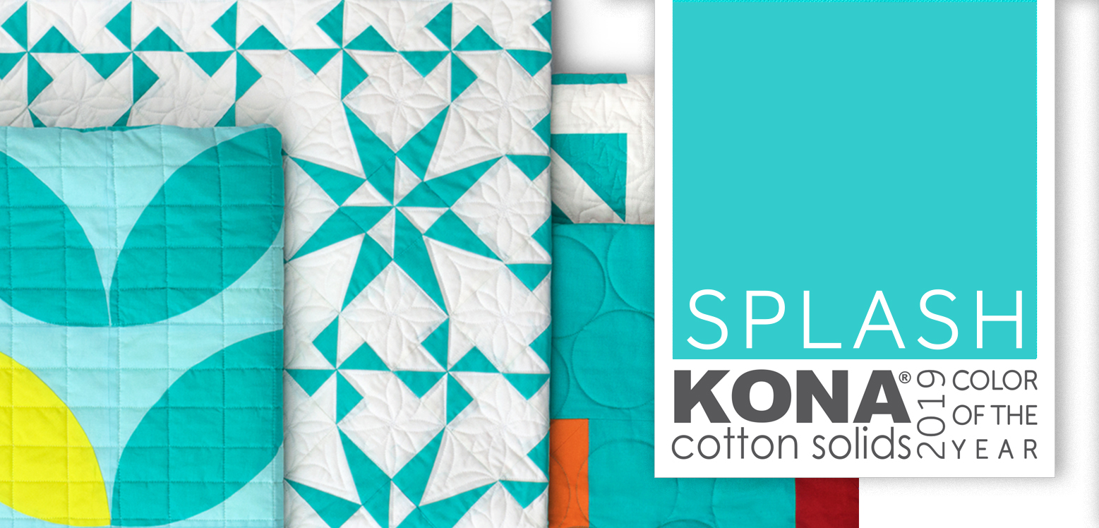 Kona cotton color of the year Splash sold by Color Girl Quilts