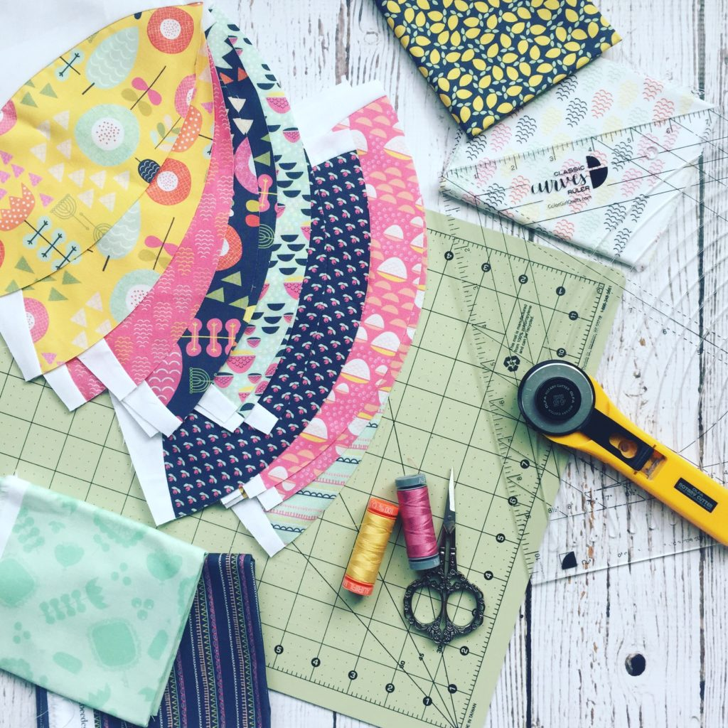 Classic Curves Ruler instructions for use, curved piecing quilts