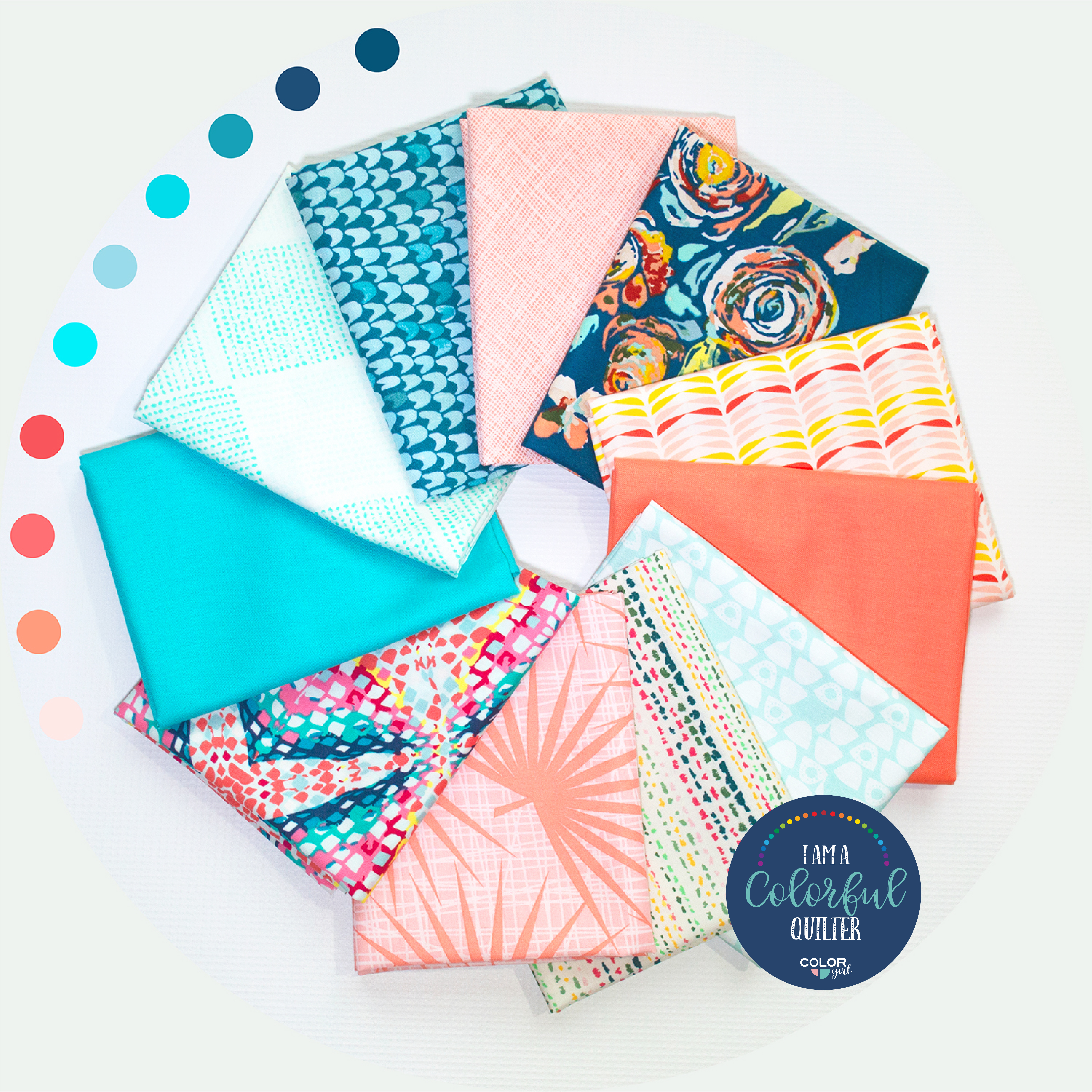 Sew Colorful Living Coral reef fabric bundle sold by Color girl quilts