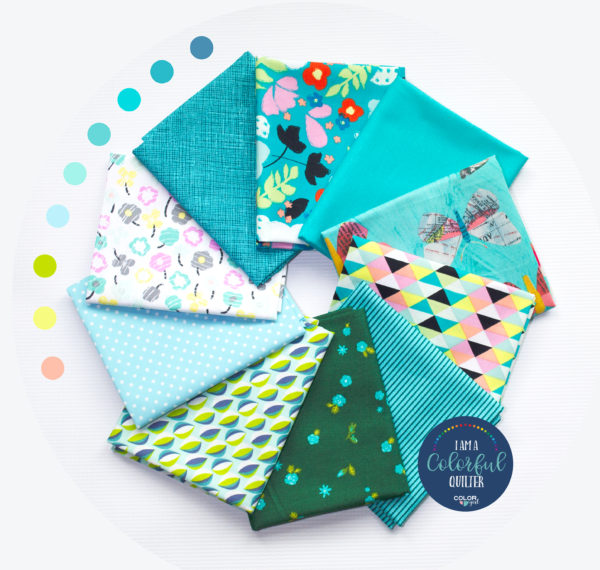 Kona splash fabric and print fabric bundle sold by Color girl Quilts