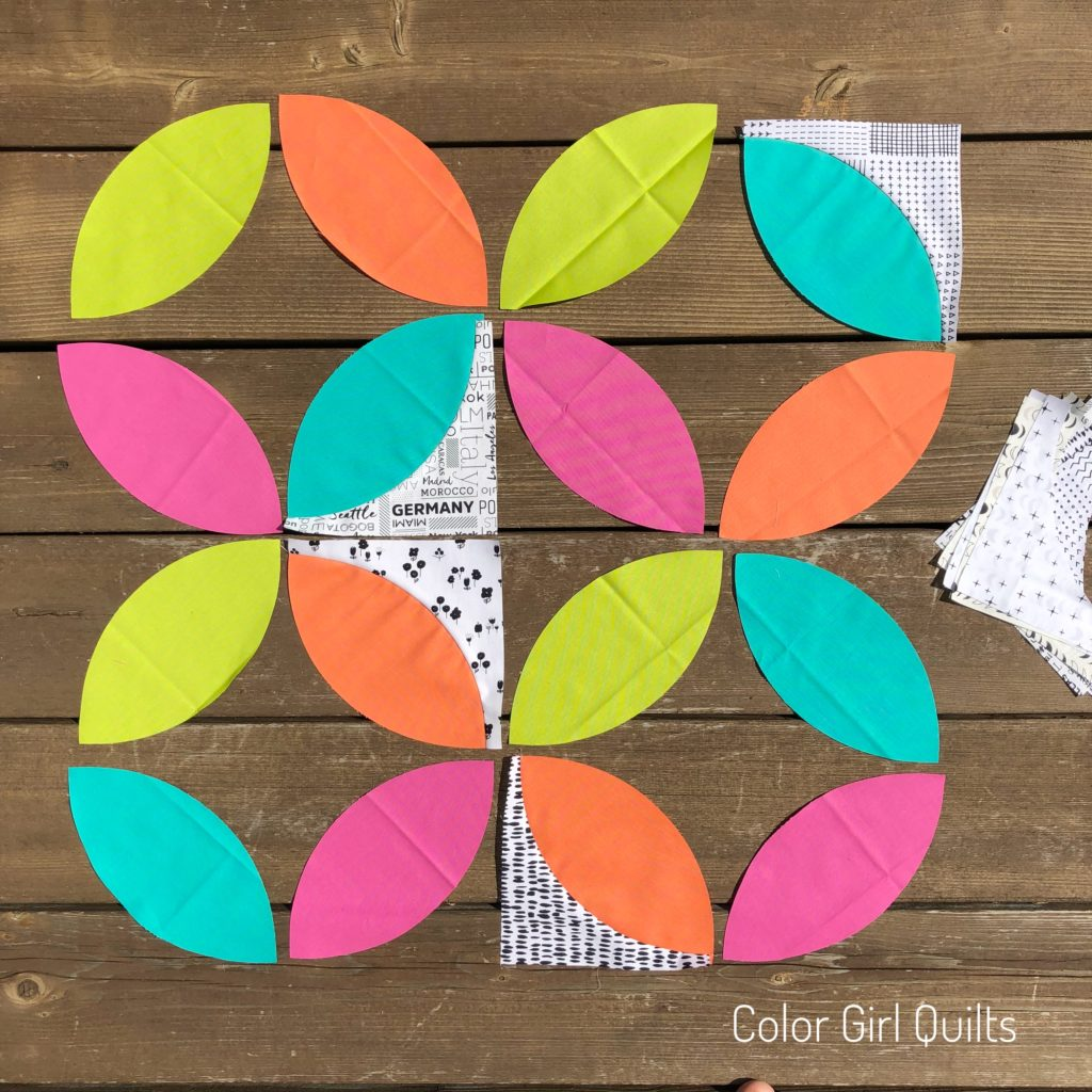 how to cut and sew orange peel blocks video tutorial by Color Girl Quilts